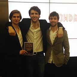 Nella foto Alessandro Rovati, Francesco Gatti e Francesco Fumagalli.