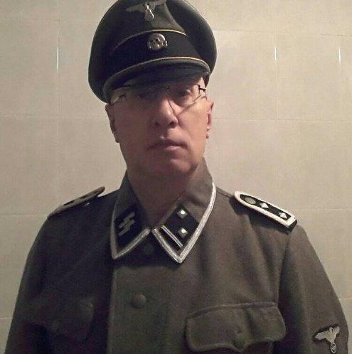 Bufera sul comandante della Municipale, in foto con l'uniforme delle SS