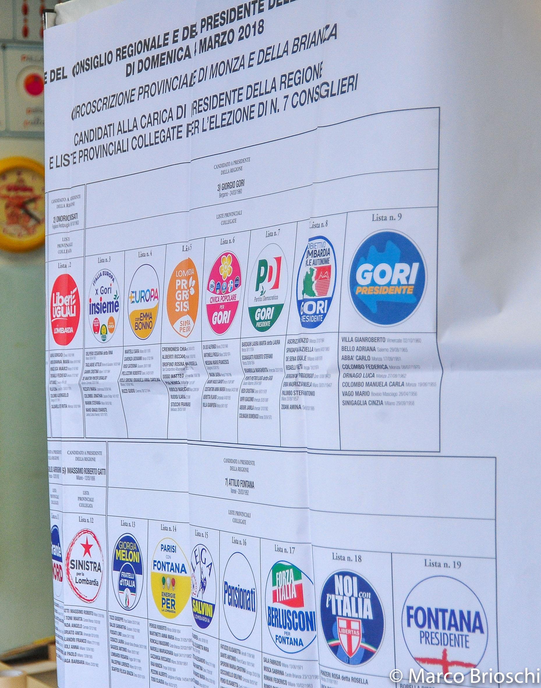 Elezioni regionali Monza e Brianza